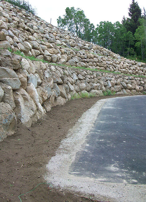 rock wall construction